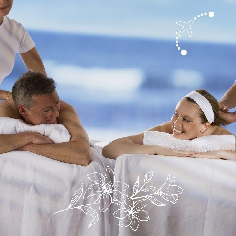 Hammam allongé avec massage visage et cuir chevelu 35 min